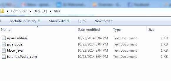 folder files list