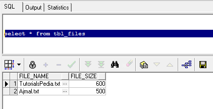 database records batch update screenshot