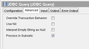 jdbc query advanced process in subsets