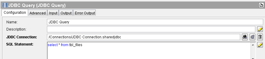 jdbc query subset configuration
