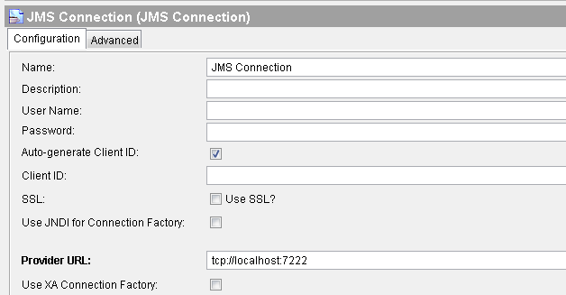 jms connection screenshot