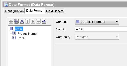orders schema tibco data format