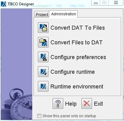 tibco designer administration