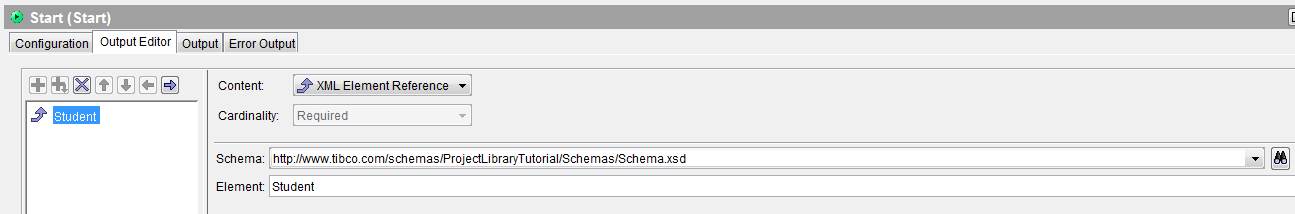 xml scehma reference to project libarary schema