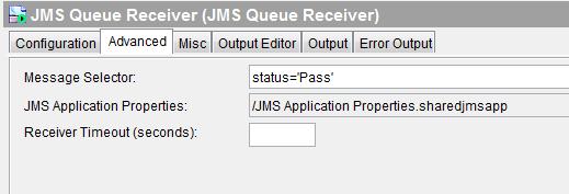 jms message selector screenshot