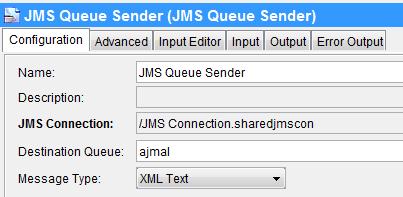 jms message selector sender configuration