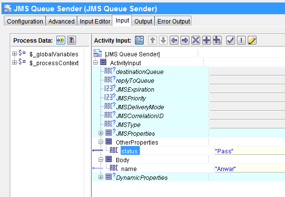 jms sender input mapping jms selector tutorial