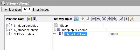 sleep input mapping