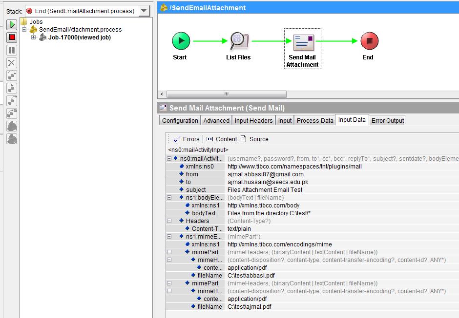 tibco test send mail attachment screenshot