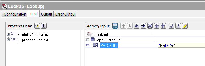 lookup input mapping
