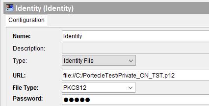 server identity file