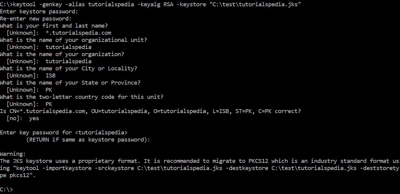 java keystore keytool jks certificate step tutorial export